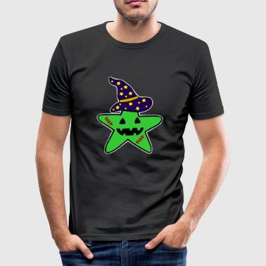 Custom Zombie Star Witch Zombie Halloween - Men's Slim Fit T-Shirt