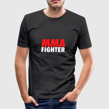 MMA Fighter Cage Fighter Martial Arts Octagon Design - slim fit T-shirt