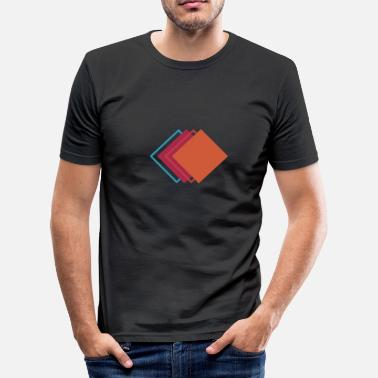 Geometric Design Geometric shapes squares - Men's Slim Fit T-Shirt
