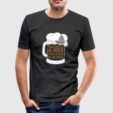 Bier en zeilen - grappige zeilen T-shirt - slim fit T-shirt