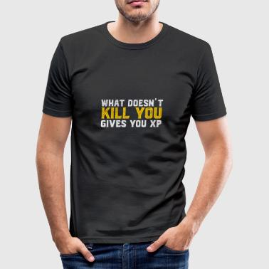 Browsergame Kill You geeft XP Ik gok Game Nerd - slim fit T-shirt
