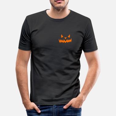 Halloween Skrämma Skrämmande Halloween T-shirt - T-shirt slim fit herr f47946e55aa71