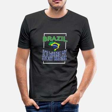 Ipanema Brazil it's where my story begins - Men's Slim Fit T-Shirt