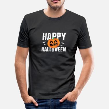 Jackolantern Happy Halloween JackOLantern Pumpkin - Men's Slim Fit T-Shirt