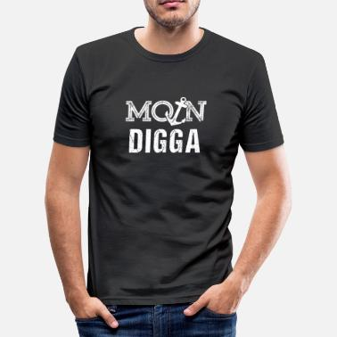 Moin Digga Moin Digga anchor - Men's Slim Fit T-Shirt