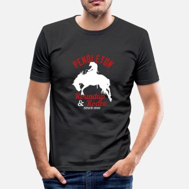 1910 Pendleton Roundup & Rodeo Sedan 1910 - Slim Fit T-shirt herr