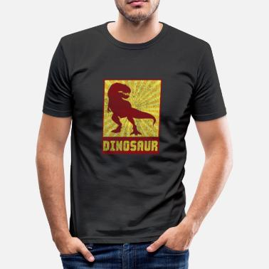 Trex Monster Dino Dinosaur Retro T-Rex Trex Gift Monster - Men's Slim Fit T-Shirt