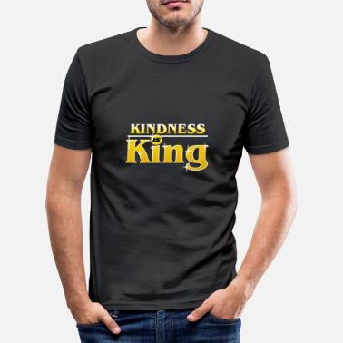 Bullying Kindness Is King Anti-Bullying Spreading Love - Men's Slim Fit T-Shirt