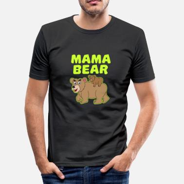 Bears-family Mom mother bear bear bear family family baby - Men's Slim Fit T-Shirt