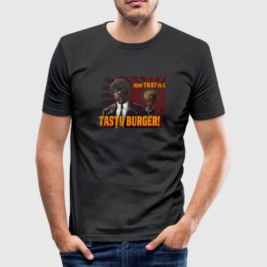 90s Movie tastyburger 90's cult movie design - Men's Slim Fit T-Shirt
