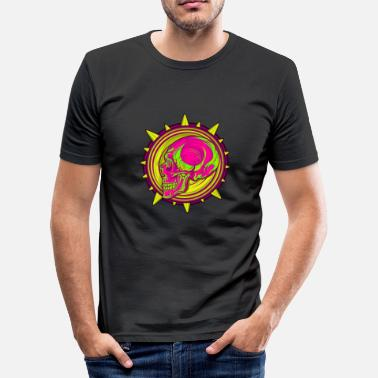 Pink Skull Pink skull - Men's Slim Fit T-Shirt