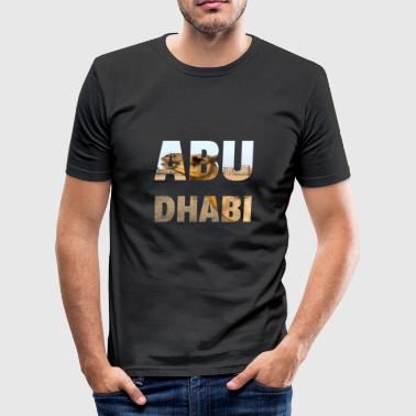 ABU DHABI ARAB EMIRATES GIFT TSHIRT CAMEL - Men's Slim Fit T-Shirt