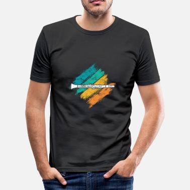 Klarinett klarinett - Slim Fit T-shirt herr