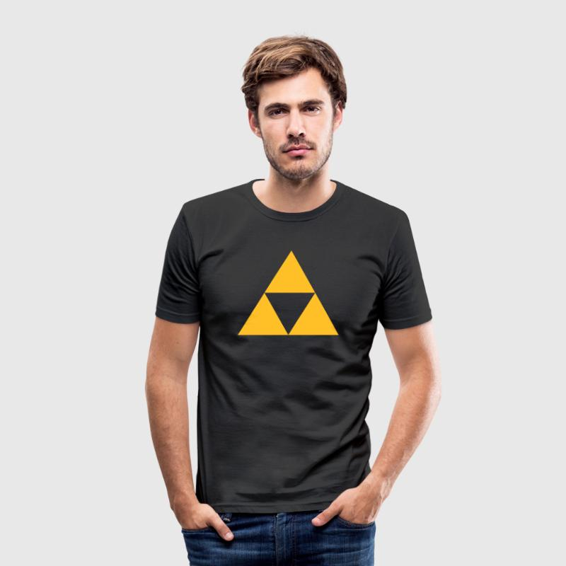 Triangle, mathematics, geometry, Triforce,  - Herre Slim Fit T-Shirt