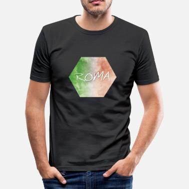 Roma Roma - Roma - Slim fit T-skjorte for menn