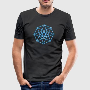 Hypercube 4D - TESSERACT - edge-first-shadow, c, Symbol - Dimensional Shift, Metatrons Cube, Ishtar Star - Camiseta ajustada hombre