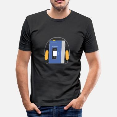 This Is Blue Stereo walkman in blue - Camiseta ajustada hombre