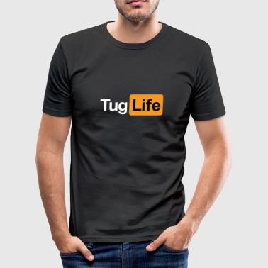 Porn Jokes Tug Life - Porn Addict - Men's Slim Fit T-Shirt