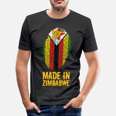 Zimbabwe Africa Made In Zimbabwe / Zimbabwe / Great Zimbabwe - Men's Slim Fit T-Shirt