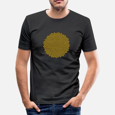 Golden Ratio Sunflower Seed, Fibonacci spiral, Golden Ratio - Men's Slim Fit T-Shirt