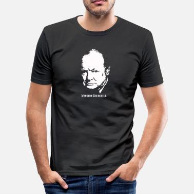 Churchill Clothing Winston Churchill Portrait - Men's Slim Fit T-Shirt