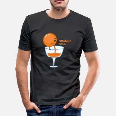 Orange Juice Orange Juice Gift Orange Juice Orange Fruit - Men's Slim Fit T-Shirt