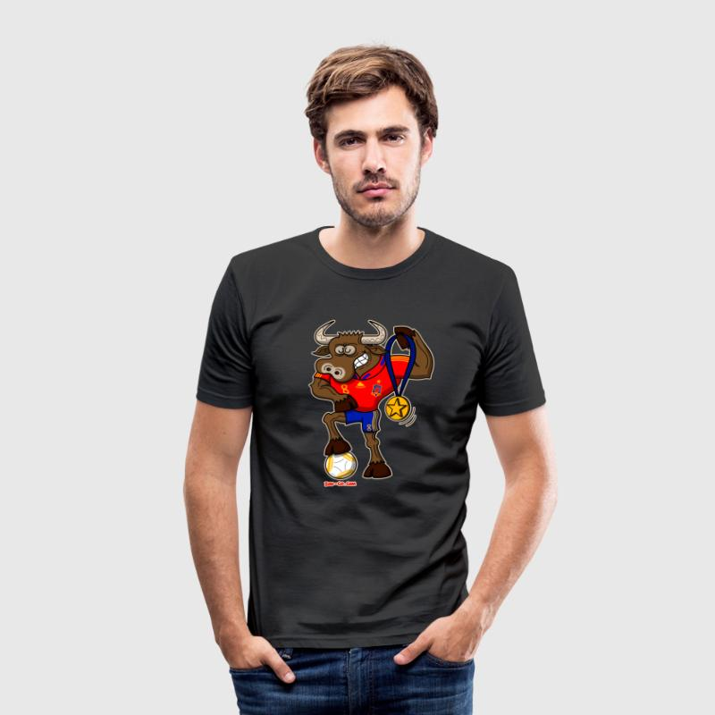 tee shirt spain 39 s football champion bull spreadshirt. Black Bedroom Furniture Sets. Home Design Ideas
