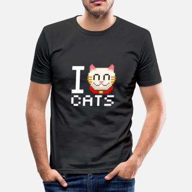 16bit Cats 16bit - Männer Slim Fit T-Shirt