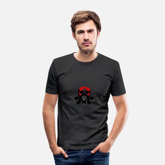 Atomic Bomb T-Shirts - fallout - Men's Slim Fit T-Shirt black