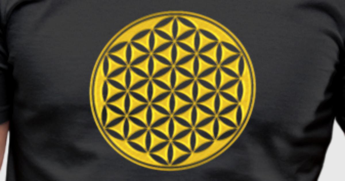 Flower Of Life Gold Sacred Geometry Power Of Balancing And