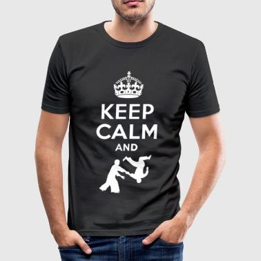 Keep Calm and aikido - EN - slim fit T-shirt