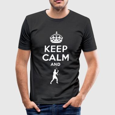 Keep Calm - Tennis - Camiseta ajustada hombre