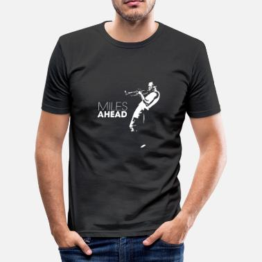 Jazz miles ahead white - Mannen slim fit T-shirt