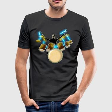 Jazz drummer.png - Tee shirt près du corps Homme