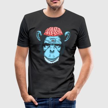 Brain Chimp - Men's Slim Fit T-Shirt