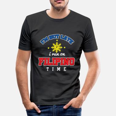Philippines Funny Filipino Time - Men's Slim Fit T-Shirt