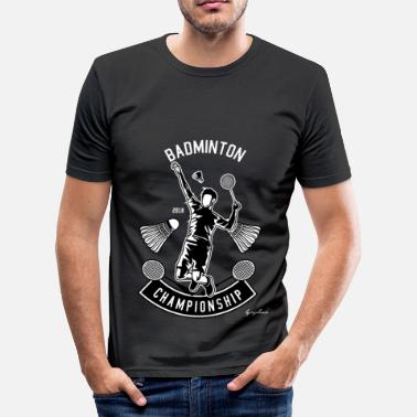 Championships Badminton Championship - Men's Slim Fit T-Shirt