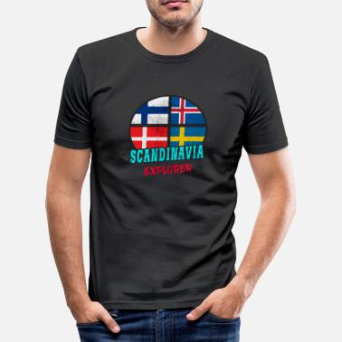 Scandinavie Scandinavie Explorer / Scandinavie / Cadeau - T-shirt près du corps Homme