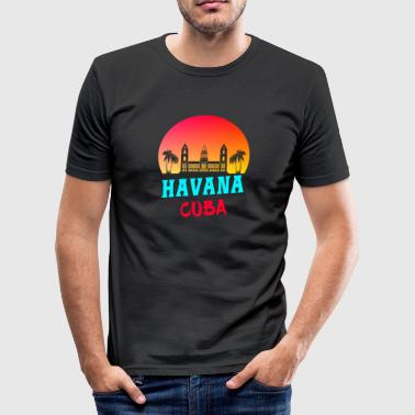 Ché Havana Cuba Sunset Caribbean Gift - Slim Fit T-skjorte for menn