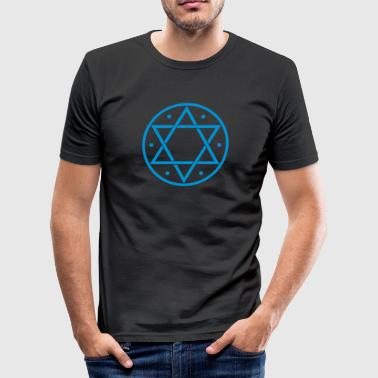 6 Protection Witchcraft Hexagram, Magic, Merkaba, David Star, Yin Yang - Men's Slim Fit T-Shirt