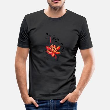 Coole Kunst bloem kunst - slim fit T-shirt