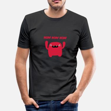 Coole Babymode Mr. nom nom nom - Männer Slim Fit T-Shirt
