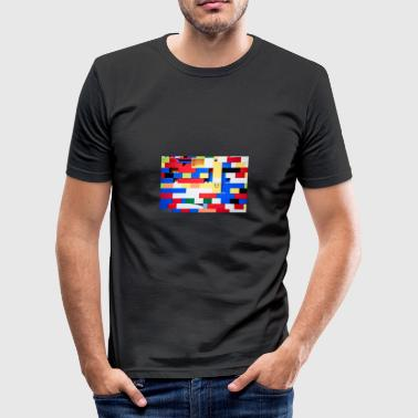 Bausteine - Männer Slim Fit T-Shirt