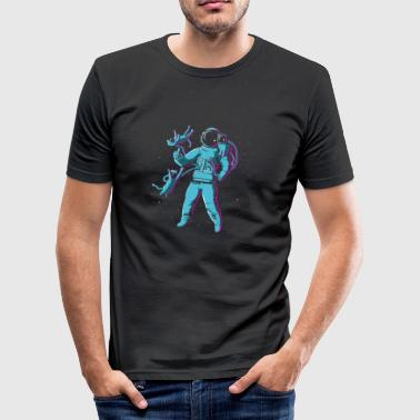 Space Catboy - Männer Slim Fit T-Shirt