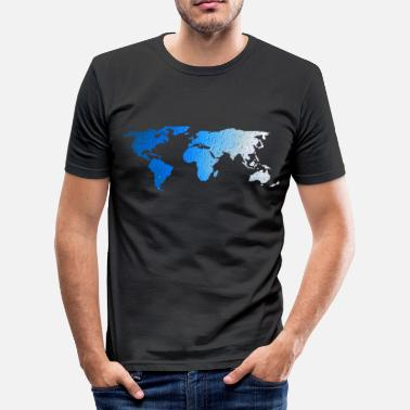 World Map - WATER - Men's Slim Fit T-Shirt