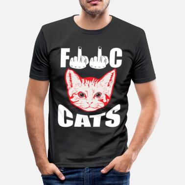 Fuck Dyr Fuck cat's - Herre Slim Fit T-Shirt