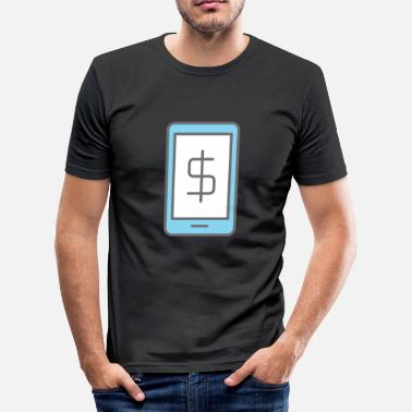 Banking mobile Banking - T-shirt près du corps Homme