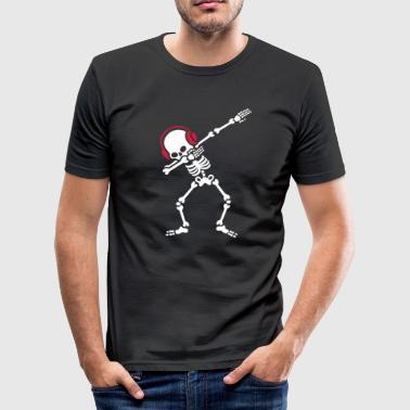 Skelton Dab Dabben Headphones Music - slim fit T-shirt