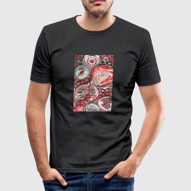 Køkken Symboler & Figurer sølv Rose - Herre Slim Fit T-Shirt