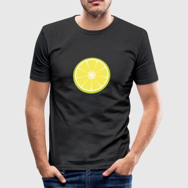 Lime skive - Herre Slim Fit T-Shirt
